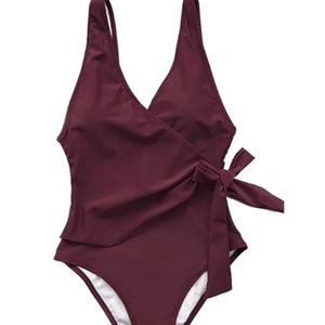 CUPSHE Elegant Dance Red One Piece, NWT Size Large
